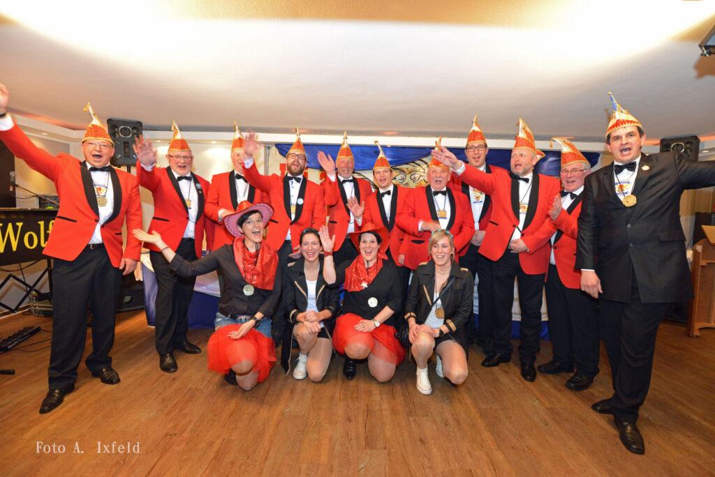 Der Elferrat mit Vorstand. Foto: Verein