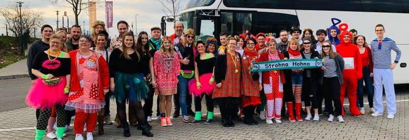 Zum Sessions-Programm hört die traditionelle Fahrt zur Lachenden Kölnarena nach Köln. Foto: Verein